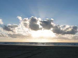Wolken beim Sonnenuntergang